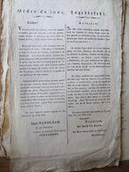 EMPIRE: Ordre Du Jour Fait à Ratisbonne Le 24 Avril 1809 Signé NAPOLEON Et ALEXANDRE - Historical Documents
