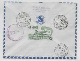 1952 - ENV. VOYAGE D'ETUDE AMERIQUE Du SUD/ANTILLES/FRANCE (VIGNETTE AVIATION AU DOS !)  PARIS => BOGOTA (COLOMBIE) - 1927-1959 Briefe & Dokumente
