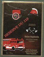 Etiquette Réserve Du 118 - Saint-Saphorin - Pompiers - Rouges