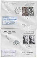 1953 - ENVELOPPES 1° LIAISON AERIENNE FRANCE / AEF / AFRIQUE DU SUD De PARIS Et BRAZZAVILLE => JOHANNESBURG - 1927-1959 Brieven & Documenten
