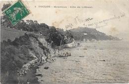 83 - TOULON Mourillon Côte Du Littoral écrite Timbrée - Toulon