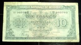 10 Fr Belges - 2 Belgas - 1943 - [ 2] 1831-... : Koninkrijk België