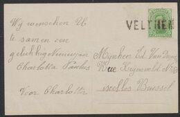 émission 1915 - N°137 Sur CP Fantaisie Annulé Par Griffe De Fortune VELTHEM > Ixelles / Bruxelles - Fortune Cancels (1919)
