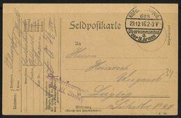 Feldpost 1. WK K.D. Feldpostexp. Des Oberkommandos Der 3. Armee A 29.12.16 - Bezetting 1914-18