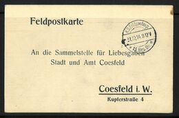 Feldpost 1. WK K.D. Feldpostexp. 13. Res. Div. A 31.12.14 - Bezetting 1914-18