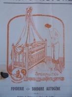 FACTURE - 35 - DEPARTEMENT : ILE ET VILAINE - VITRE 1928 - MANUFACTURE LITS METALLIQUES : J. BAUDAT - Unclassified