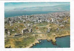 CPSM.  15 X 10,5  -  BEYROUTH  MODERNE  -  Vue Générale Et Les Grands Hôtels à L'Avenue Chouran - Libano