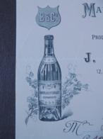 FACTURETTE - 35 - DEPARTEMENT : ILE ET VILAINE - ST MALO - VITRE 1915 - PRODUITS ALIMENTAIRES FELIX POTIN : J. LEDEUX - Unclassified