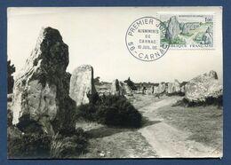 France - Carte Maximum - Alignements De Carnac - 1965 - Cartoline Maximum