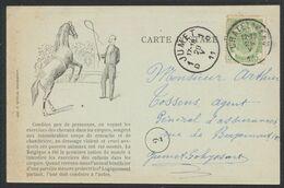 """Armoiries - N°83 SBD Sur CP """"Oeuvre Contre La Cruauté Envers Les Animaux"""" (Imp. Andrimont), De Chatelineau > Jumet. - 1893-1907 Armarios"""