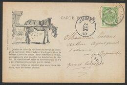 """Armoiries - N°83 SBD Sur CP """"Oeuvre Contre La Cruauté Envers Les Animaux"""" (Imp. Andrimont) > Jumet / Cheval - 1893-1907 Armarios"""