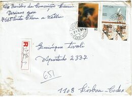 Portugal , 1990 , 196x139mm Cover , 8375 S. Bart. Messines   São Marcos Da Serra  Postmark And Registration Label - Poststempel (Marcophilie)
