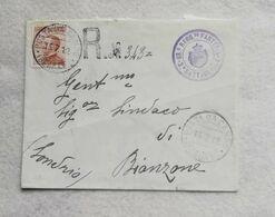 Busta Di Lettera Raccomandata Da Posta Da Campo Bengasi Per Sindaco Di Bianzone 1912 - 1900-44 Vittorio Emanuele III