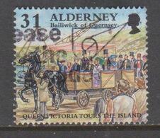 ALDERNEY, USED STAMP, OBLITERÉ, SELLO USADO. - Alderney
