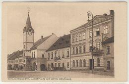 Schlackenwerth Ostrov Marktplatz Mit Hotel Renthaus  Um 1920 - Boehmen Und Maehren