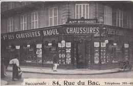 75 PARIS  Façade Magasin De Chaussures Raoul ,rue Du Bac ,ancienne Maison Poivret ,triporteur Pour Livraison Dans La Rue - Distretto: 07