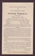 EERW.ZUSTER ROBERTA / LEONIE CRIEL - EVERGEM 1876   EVERGEM  1936 - Obituary Notices