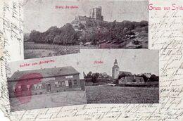 DC2099 - Ansichtskarte Gruss Aus Sylda, Burg Arnstein, Gasthof Zum Kornprinz, Kirche - Otros