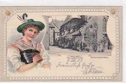 """Nürnberg - Restaurant """"Bratwurstglöcklein"""" - Prägelitho Mit Ansichtsfenster - 1902       (A-253-200519) - Nuernberg"""