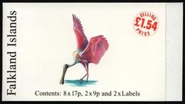 Falkland 1998 - Mi-Nr. 725-726 ** - MNH - Markenheftchen / Booklet - Vögel - Islas Malvinas