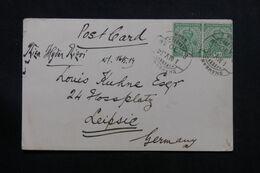 INDE - Carte De Correspondance En 1914 De Agra Pour L 'Allemagne - L 71374 - 1911-35  George V