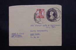INDE - Entier Postal + Complément De Bombay Pour Les Etats Unis En 1947 - L 71375 - 1936-47  George VI