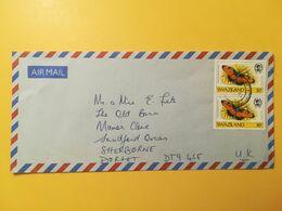 1991 BUSTA INTESTATA AIR MAIL SWAZILAND BOLLO FARFALLE BUTTERFLIES OBLITERE' - Swaziland (1968-...)