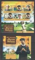 N763 2012 MOZAMBIQUE MOCAMBIQUE SPORTS GOLF 100TH ANNIVERSARY BYRON NELSON 1SH+1BL MNH - Golf