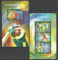 QQ508 2015 CENTRAL AFRICA SPORT LE CRICKET STARS KB+BL MNH - Cricket