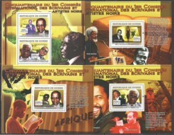 S637 2007 GUINEE GUINEA 50TH ANNIVERSARY OF THE FIRST INTERNATIONAL BLACK ARTISTS CONGRESS 3BL+1KB MNH - Altri