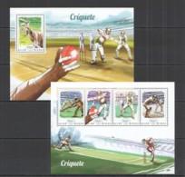 SS877 2014 GUINE GUINEA-BISSAU SPORT CRICKET CRIQUETE KB+BL MNH - Cricket