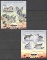 WW385 2013 REPUBLIQUE TOGO TOGOLAISE ANIMALS CHACAL A FLANCS RAYES 1KB+1BL MNH - Autres