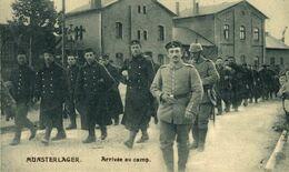 MUNSTERLAGER. ARRIVÉE AU CAMP. 1914/15 WWI WWICOLLECTION - Oorlog 1914-18