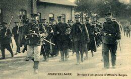 MUNSTERLAGER. ARRIVÉE D'UN GROUPE D'OFFICIERS BELGES. 1914/15 WWI WWICOLLECTION - Oorlog 1914-18