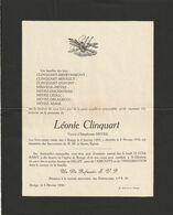 Léonie Clinquart / Rongy 1855-1934 / Veuve D'Ildephonse Heyez - Overlijden
