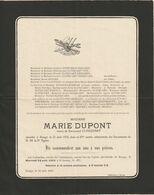 Marie Dupont / Décédée à Rongy En 1932 à 85 Ans / Veuve Emmanuel Clinquart - Overlijden