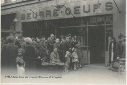 AUTRE COLLECTION 9 Queue Devant Une Crèmerie A Paris Sous L'occupation En 1942 : édit. Atlas - Otros