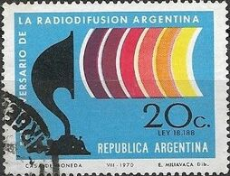 ARGENTINA 1970 50th Anniversary Of Argentine Radio Broadcasting - 20c Wireless Set Of 1920 And Radio Waves FU - Argentina