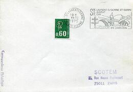 58159 France, Special Postmark Slogan 1975 St.laurent, Showing A Dolmen And Bridge - Prehistoria
