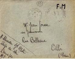 65 . BASSES PYRENEES . BAREGES (faible)  . TàD De Type B4 . 1942 - Poststempel (Briefe)