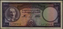 Afghanistan 100 Afghani Banknote, Kg Md. Zahir Sha,1948-57  GVF - Afghanistan