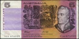 Australia $ 5 Papermoney Banknote VF - Lokale Munt