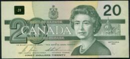 Canada Queen Elizabeth II $20 Banknote 1991 - Canada