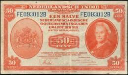 Netherlands East Indies 50 Cents Banknote 1943 - Indie Olandesi