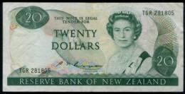 New Zealand Queen Elizabeth II. $20 Banknote ,VF. - Nieuw-Zeeland