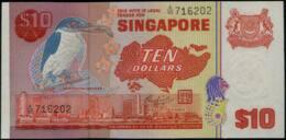 Singapore Birds Series $10 Banknote. 1977 #p12 AU - Singapore