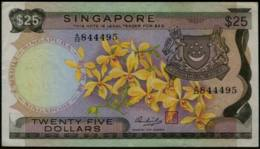 Singapore Orchids Series Issue $25 Banknote #p4 1972 - Singapore
