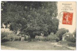 Éramecourt - Le Gros Tilleul Et La Mairie - École - Circulé 1912 - Poiret - Mr DUMONT - Altri Comuni