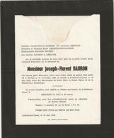 Joseph-Florent Dauron / Waillet 1880 - Lodelinsart-Ouest 1958 - Todesanzeige