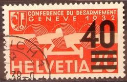 """Schweiz Suisse 1937: """"Aufdruck 40="""" Zu Flug 25 Mi 310 Yv PA25 Mit Stempel ZÜRICH ?.X.38 (Zu CHF 30.00) - Usados"""